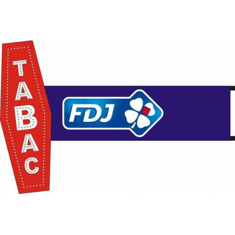 Enseigne Carotte Tabac lumineuse à led - support 120 cm