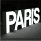 Lettre BOITIER Aluminium à LED - Face plexi diffusant 4 mm