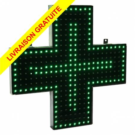CROIX DE PHARMACIE à LEDS 45 CM Simple face - Etanche
