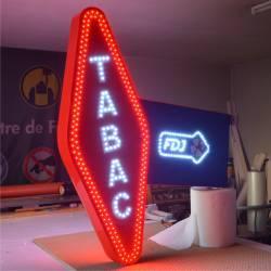 Carotte tabac 70W - Enseigne lumineuse à led