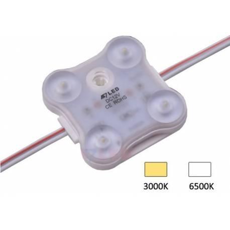 Module 4 LEDS Samsung 2835 SMD - 1.8W/12V - IP68