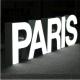 enseigne PARIS face lumineuse