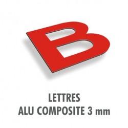 Lettres en alu composite 3 mm