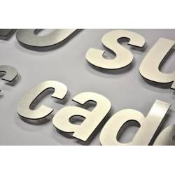 lettres et logos RELIEF aluminium composite