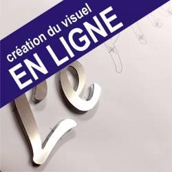 """Lettres Relief - Aluminium Découpé - Enseigne relief en Kit - """"TYPE : B"""""""