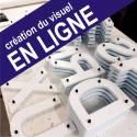 """Lettres Relief - PVC Découpé - Kit Enseigne Relief - """"TYPE : A"""""""