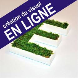 ⚞ FICHIER ⚟ Lettres Végétale - Création en Ligne