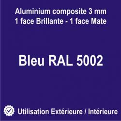 Aluminium bleu - Lettres découpées