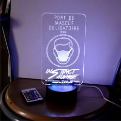 Port du masque obligatoire - Lampe Led