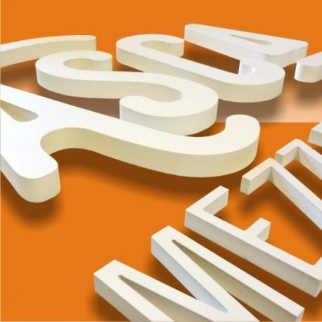 Promo lettres et logos découpés en PVC selon fichier fournis