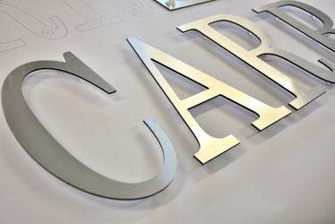 lettres aluminium brossé