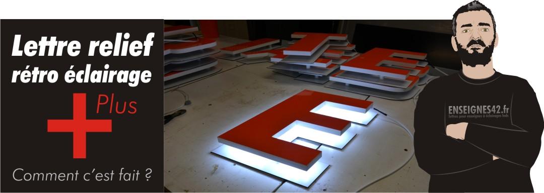 lettre rétro éclairage PVC Didond led | enseignes42