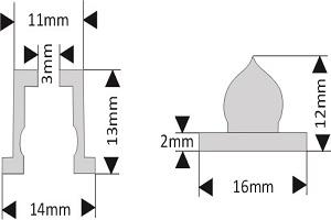 fixation pour lettre découpée diamètre 15 mm écartement 15 mm à coller/visser