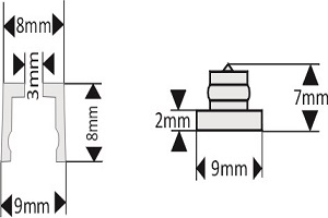fixation pour lettre découpée diamètre 9 mm écartement 10 mm à coller/visserr