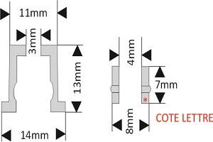 fixation pour lettre découpée diamètre 15 mm écartement 13 mm à visser/visser