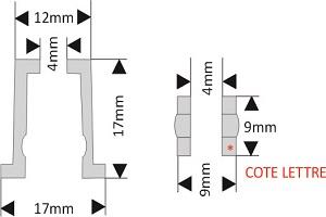 fixation pour lettre découpée diamètre 18 mm écartement 17 mm à visser/visser