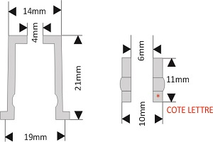 fixation pour lettre découpée diamètre 20 mm écartement 21 mm à visser/visser