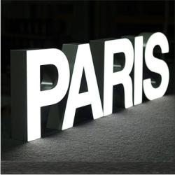 lettre boitier aluminium Face Plexiglas LED