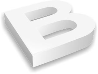 découpe de lettre relief PVC