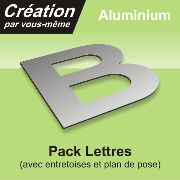 Kit lettres aluminium à installer soi même