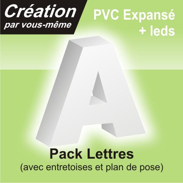 Lettre relief rétro éclairée en PVC