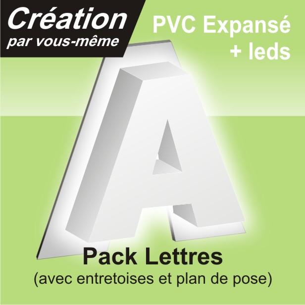 lettre relief rétro éclairage plus en alu+PVC
