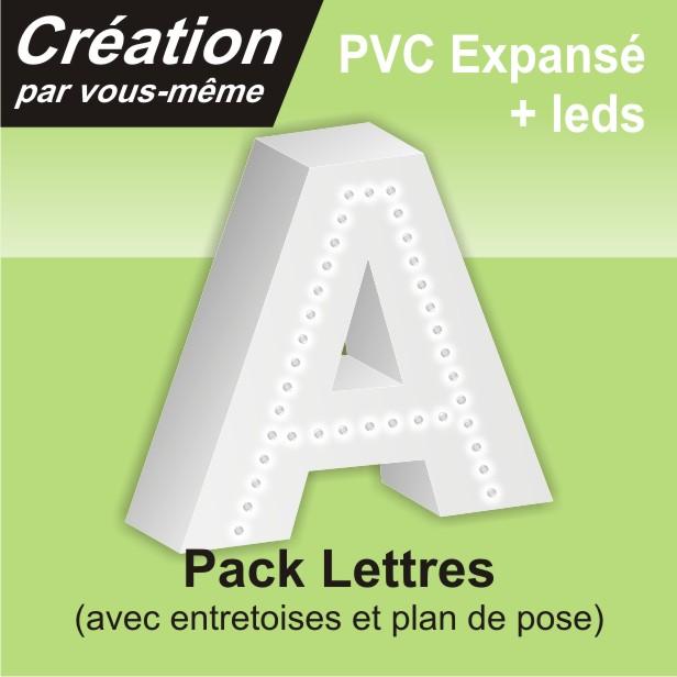 Lettre led simple trait en PVC