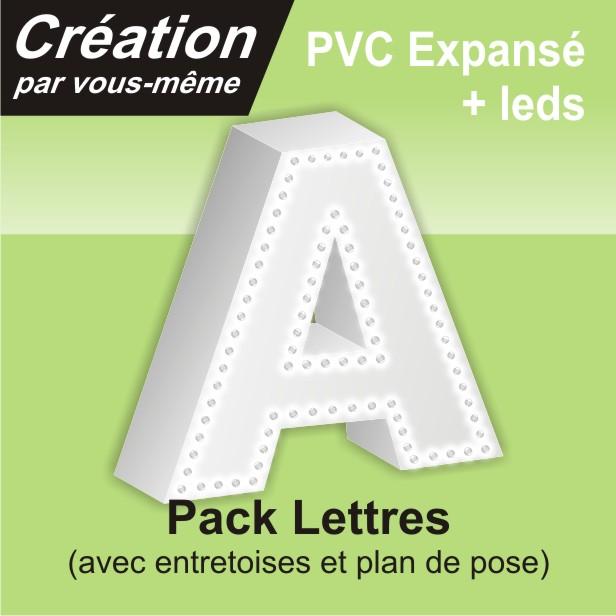 lettre leds contour en PVC