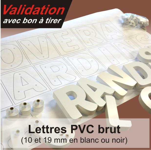 lettres et logos relief en PVC à installer soi même