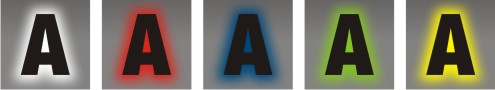 coloris des leds pour lettres retro eclairage
