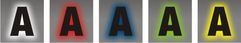 rétro eclairage lettres relief tous coloris